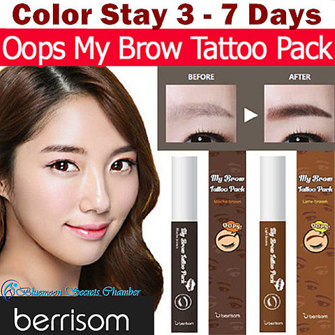 Berrisom Korea★Oops My Brow Tattoo Tint Pack (10g)★Color Stay 3 to 7 days
