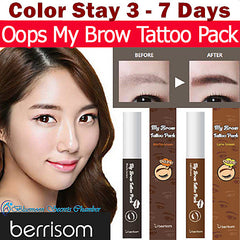 Berrisom Korea★Oops My Brow Tattoo Tint Pack (10g)★Color Stay 3 to 7 days - Bluemoon Secrets Chamber