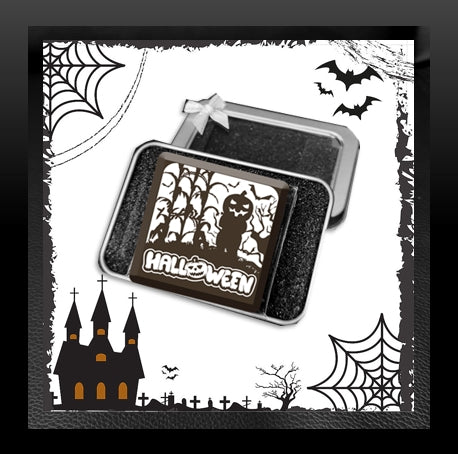 Halloween Chocolate in Tin Box