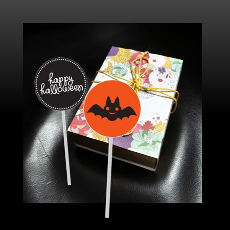 Twin Halloween Lollipops in box