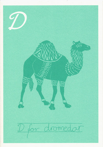 Danish Alphabet card - Dromedar