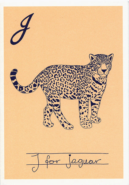 Postcard - Alphabet - Jaguar