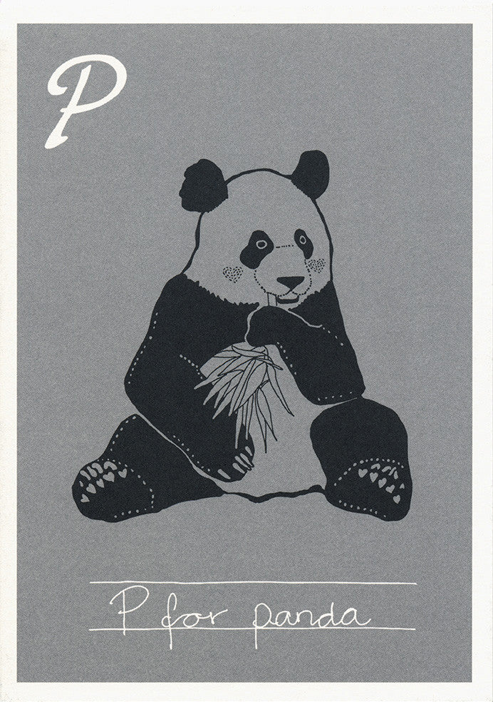 Danish Alphabet card / Panda