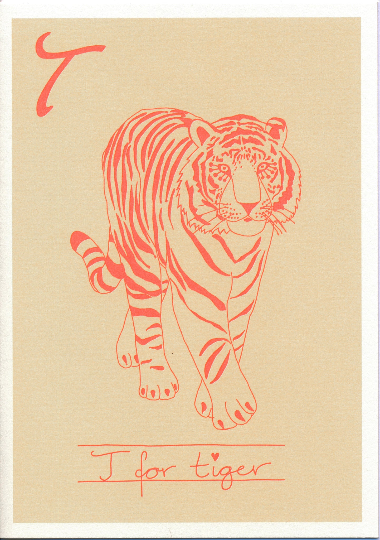 Postcard - Alphabet - Tiger