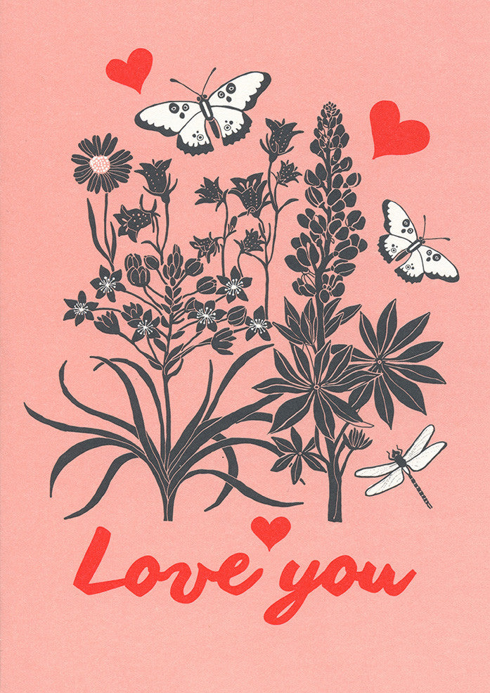 Postcard - Greeting - Love you