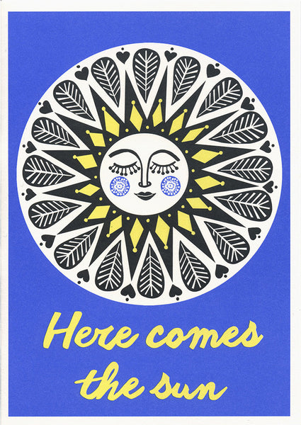 greeting card / Here comes the sun
