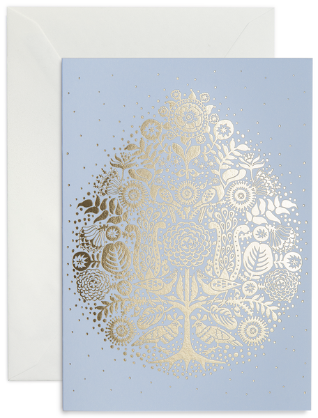 greeting card / light Blue