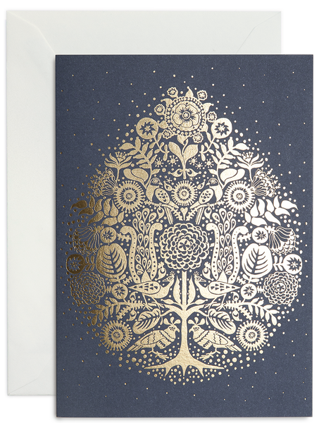 greeting card / Dark Blue