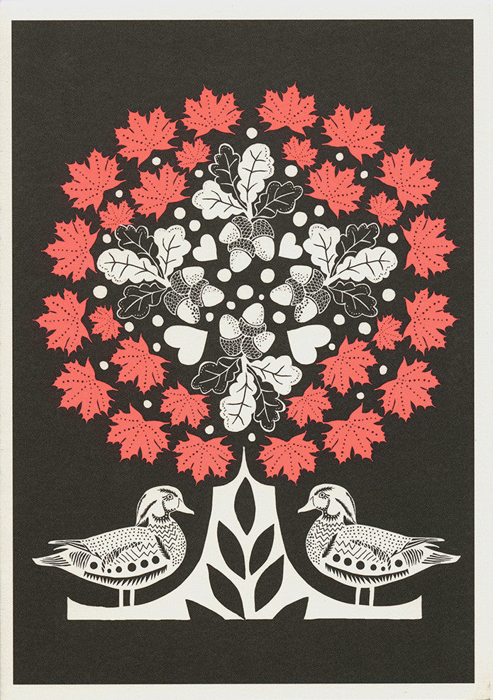 greeting card / Autumn Ducks