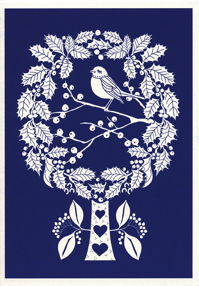 greeting card / Winter Blue