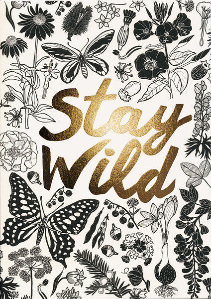 greeting card / Stay wild
