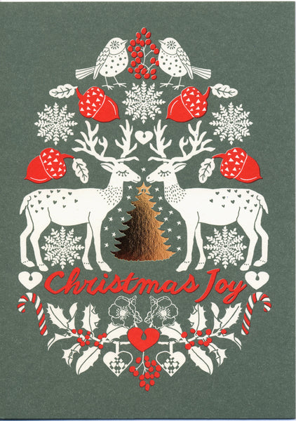 greeting card / Christmas joy deer