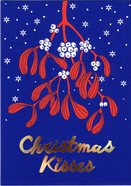 greeting card / Christmas kisses