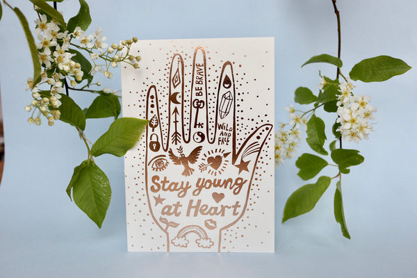 Greeting card / Stay young at heart