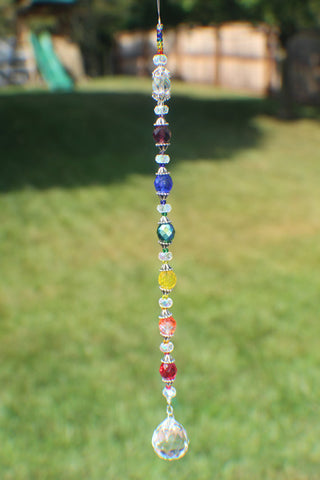 20mm Crystal Suncatcher including all the Chakra color (0003)