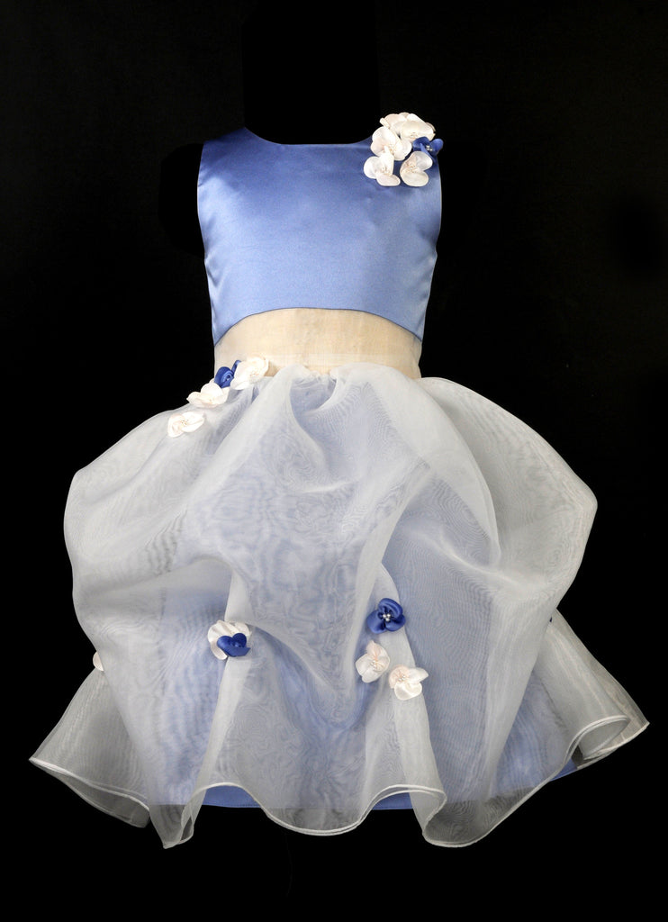 95a1e1a579 flower girl dress (91740)Sleeveless and satin bodice with matching flo –  Ellie Roses