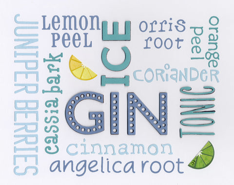 Blue Gin limited edition print