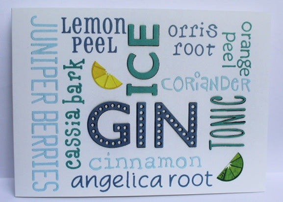 Blue gin card Greeting Card