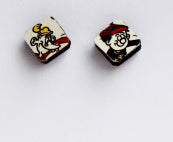 Square Bash Street Kids Earrings