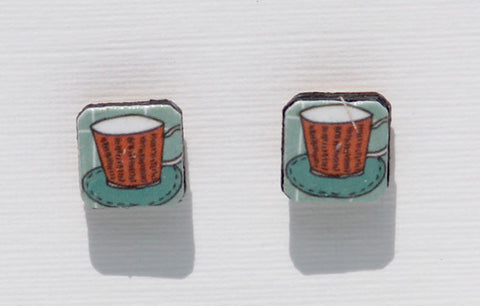 Coffee/Tea Cup Earrings
