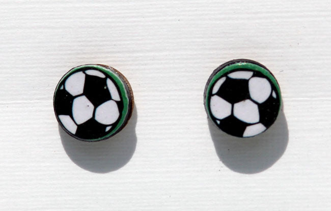 Round Football Earrings