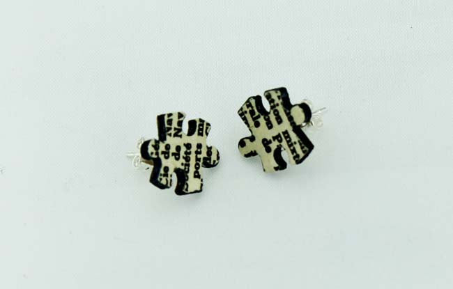 Jigsaw Earrings