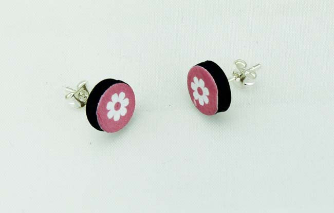 Round Flower Earrings