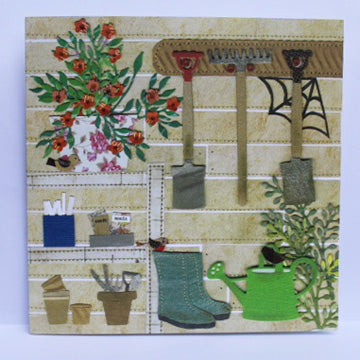 Garden shed greetings card
