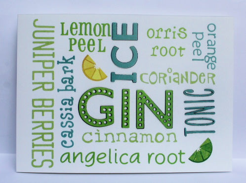 Green gin card Greeting Card