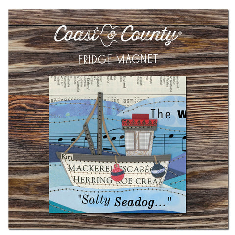 Fridge magnet Salty sea dog
