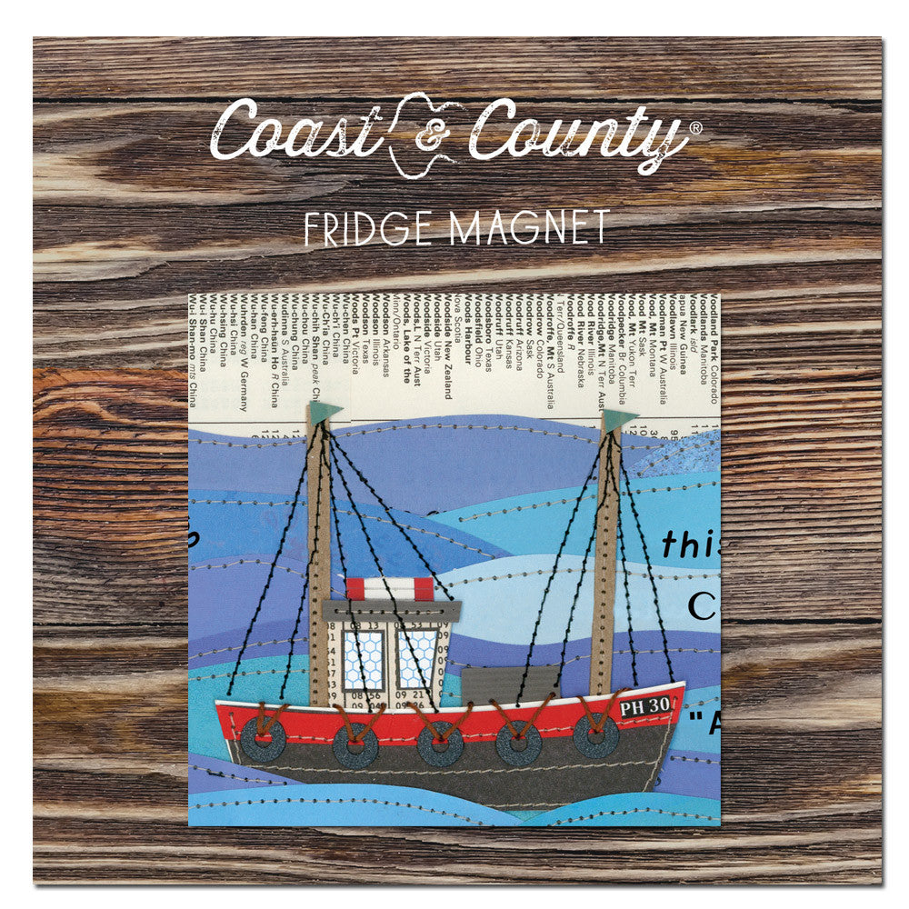 Fridge magnet Off to sea