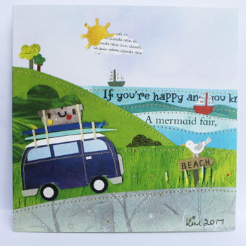Campervan  greetings card