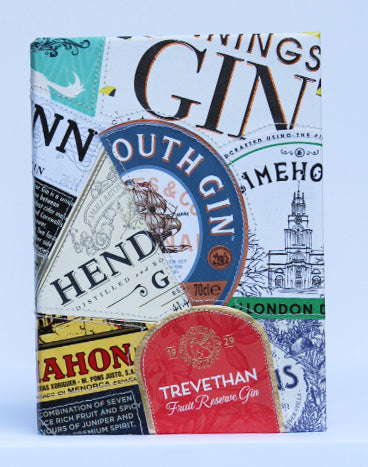 Gin label small notebook
