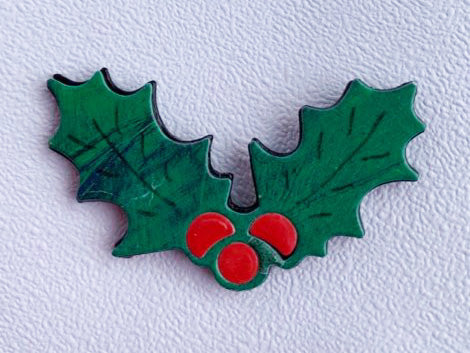 Holly Berry Brooch