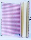 Large gingham quilted journal