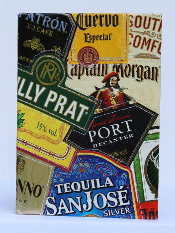 Alcohol label small notebook