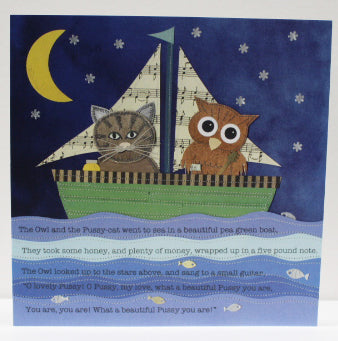 The owl and the pussycat greetings card