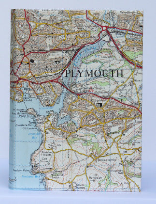 Plymouth map small notebook