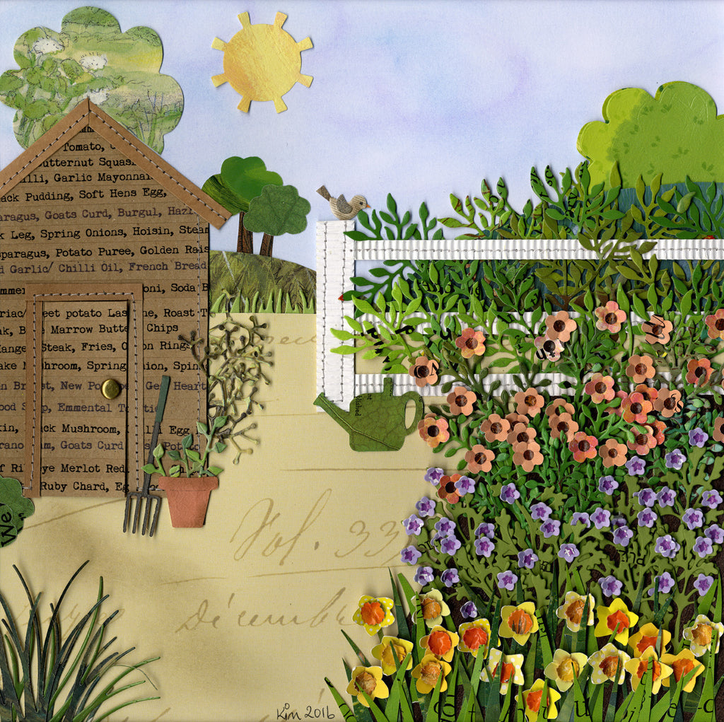 Soft hens egg garden shed limited edition print