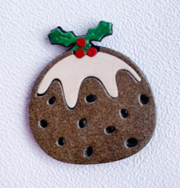 Christmas pudding Brooch
