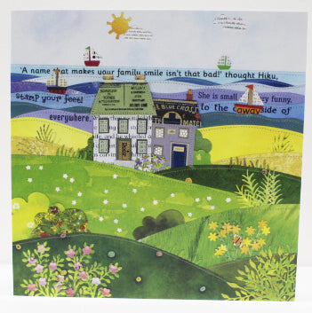 Seaside cottages greetings card