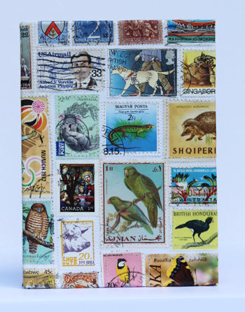 Postage stamp small notebook