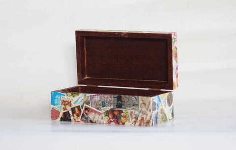 Wooden Stamp Box