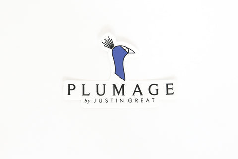 Plumage Peacock Logo Sticker