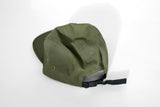 Canvas Five Panel Strapback Hat - Olive