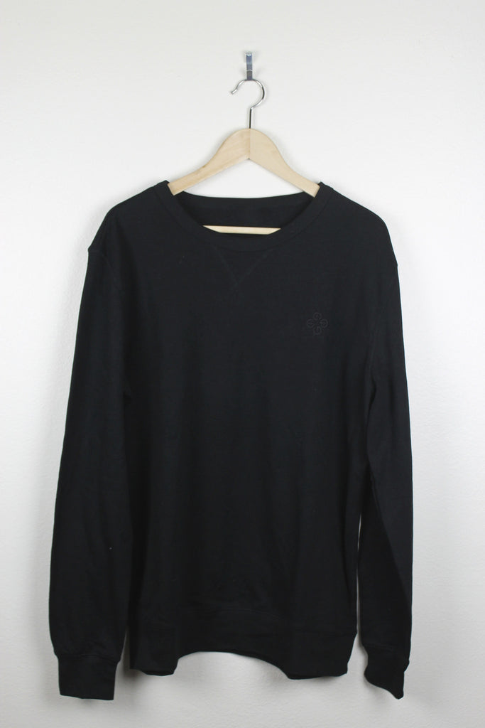Black Basic Crew Sweater
