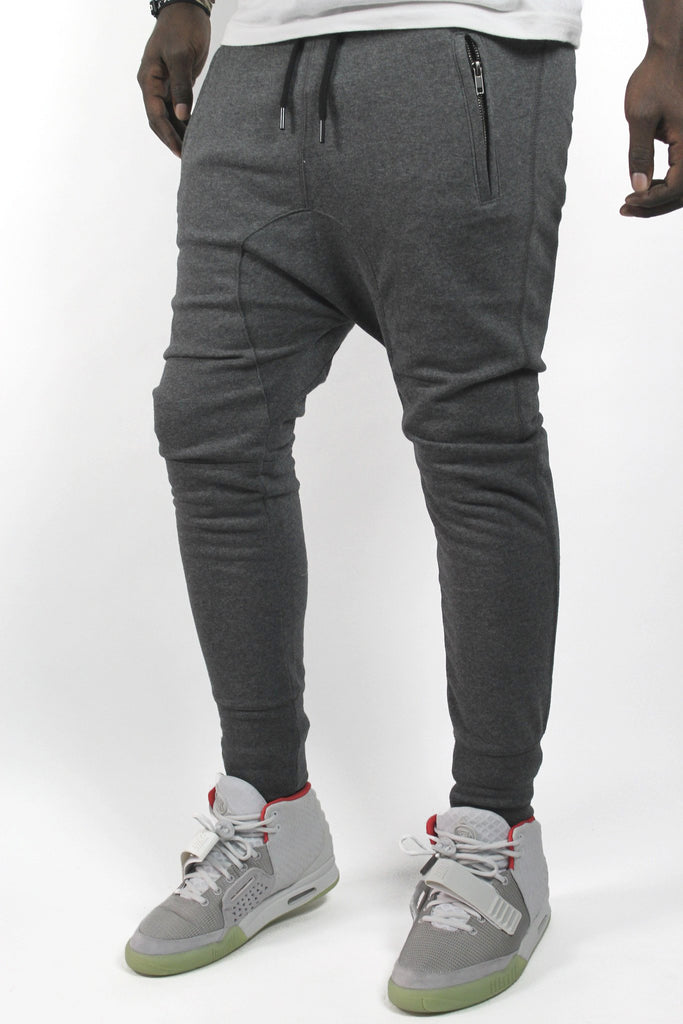 Semi Drop Crotch Jogger - Grey