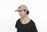Canvas Five Panel Strapback Hat - Khaki