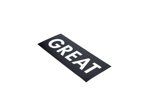 GREAT Logo Sticker