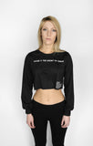 Good is The Enemy Long Sleeve Crop